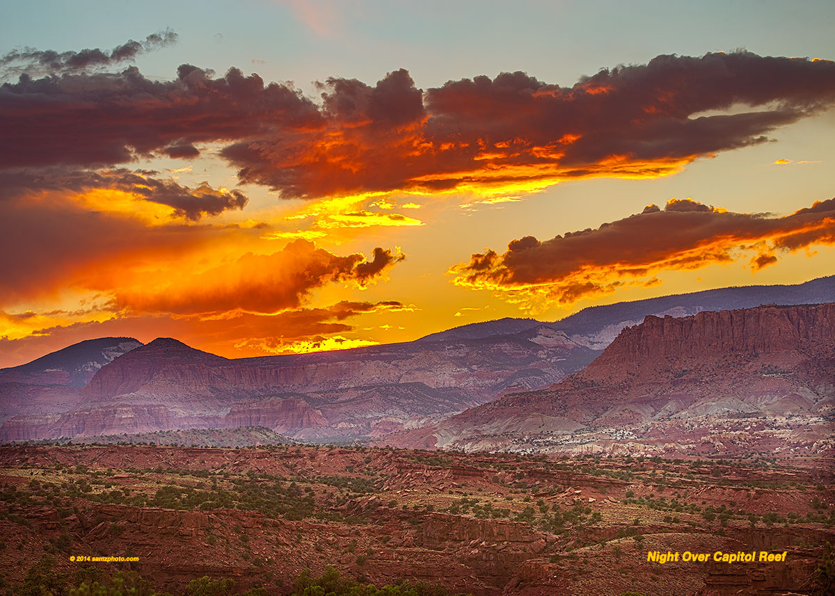 Night Over Capitol Reef 28 X 20
