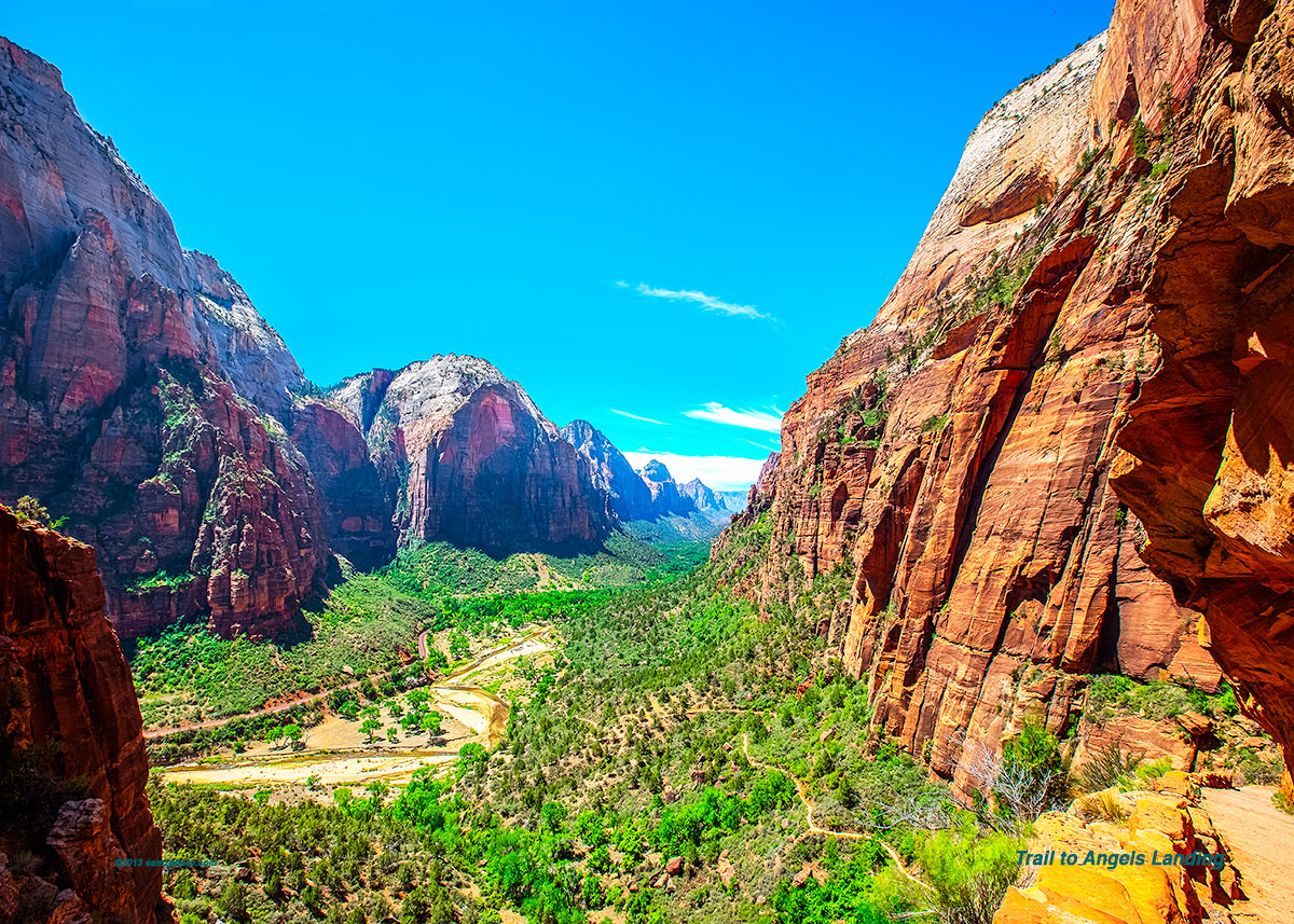 Trail To Angels Landing 28 x 20